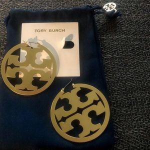 NWOT Tory Burch Logo Earrings